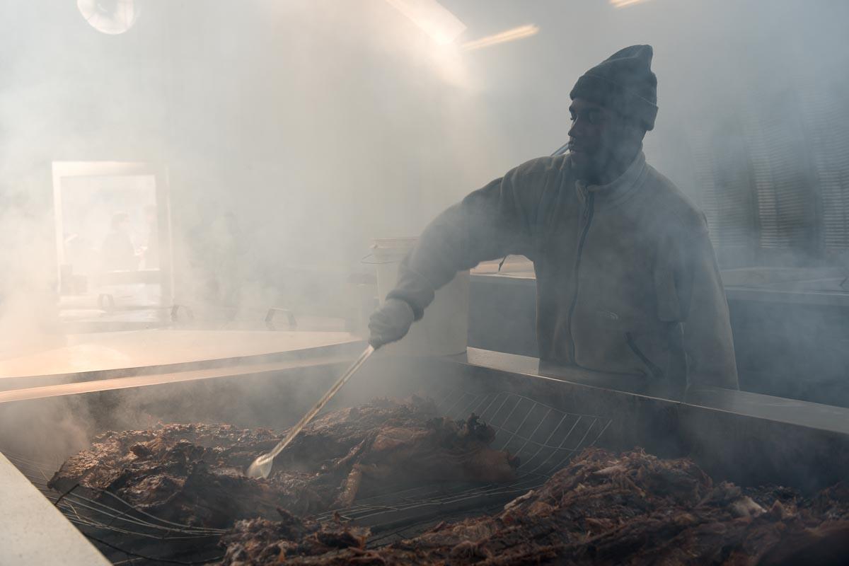 Getting the Hog Ready for Seasoning