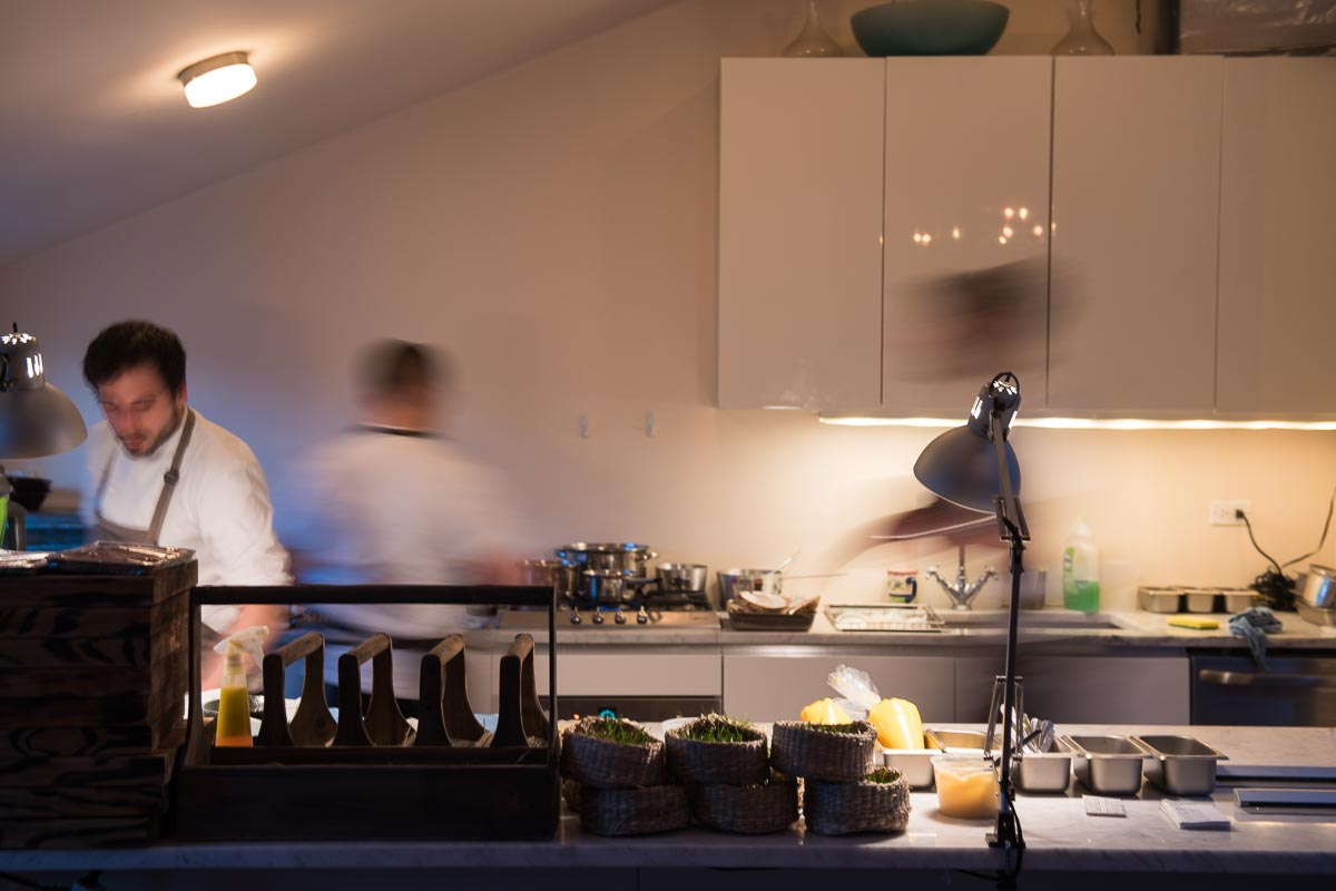 Pros in a Home Kitchen