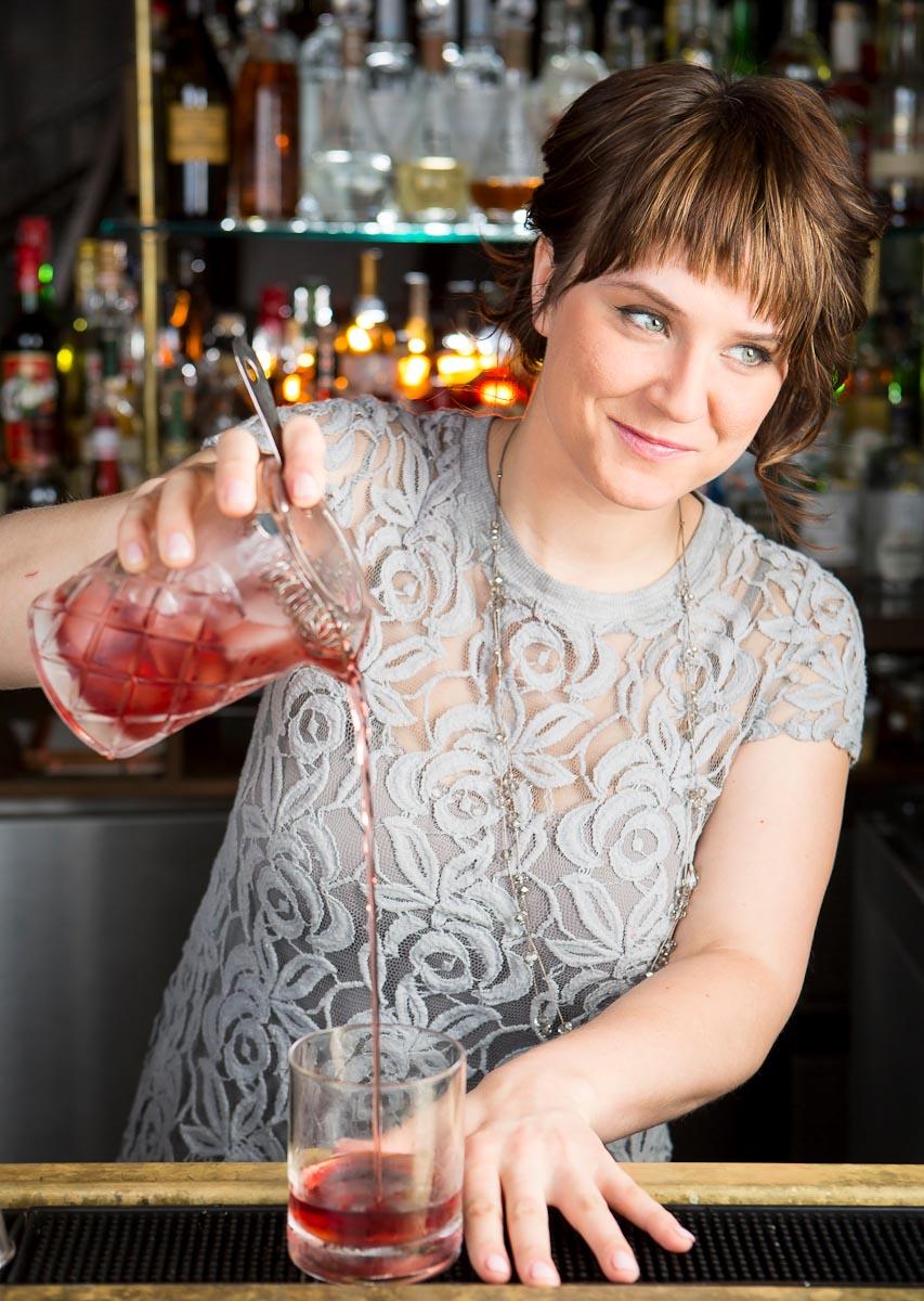 Bartender Megan Deschaine at  492 | Photo Credit: jwkpec.com