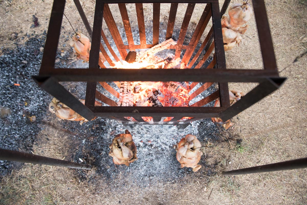 Hearth-Roasted Chickens