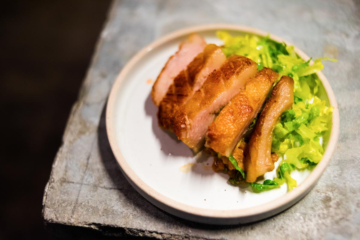 Pork Jowl, Barley, Ssamjang, Romaine | Photograph courtesy of Atoboy