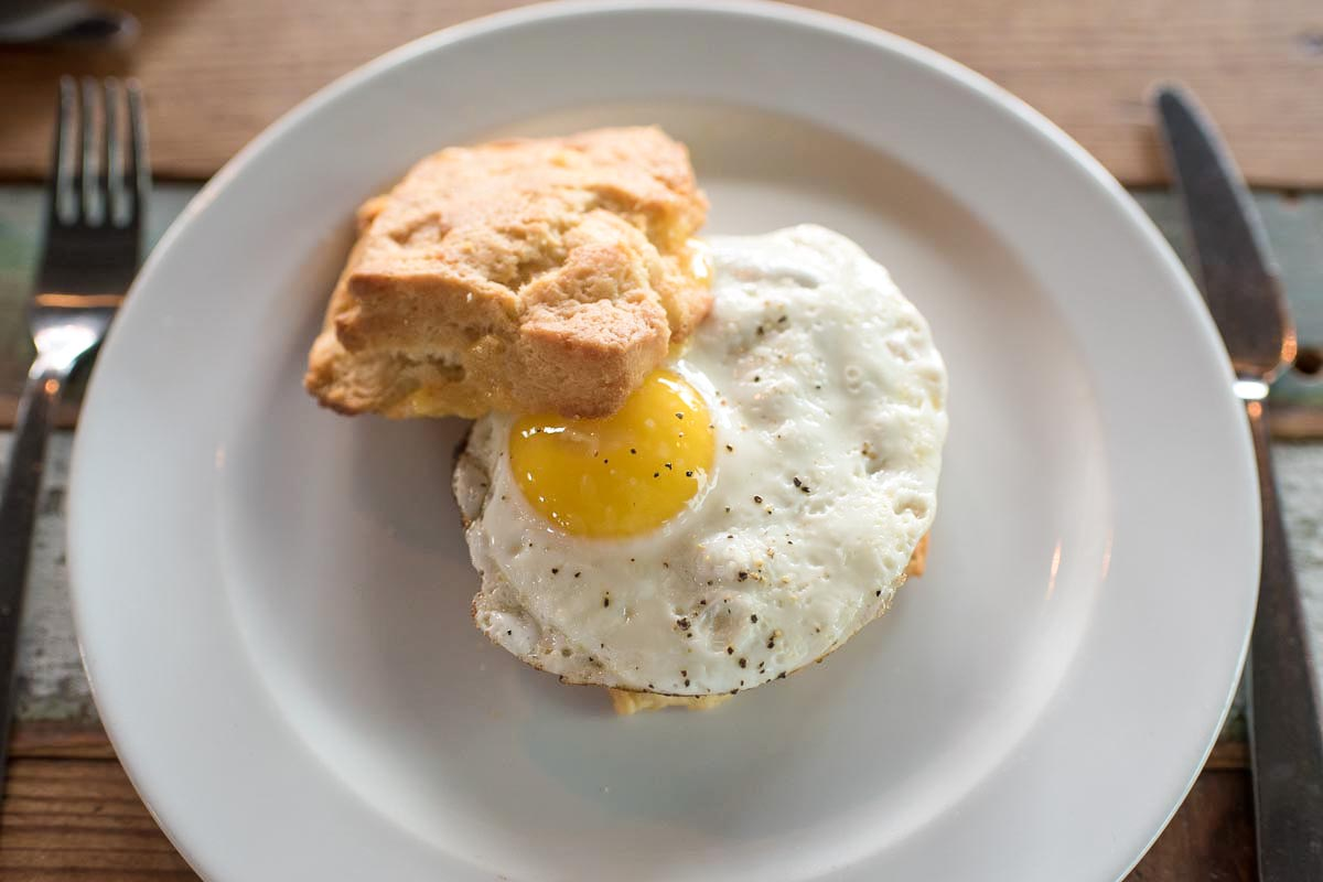 Biscuit, egg, and sausage | Photo Credit: ©Find. Eat. Drink.