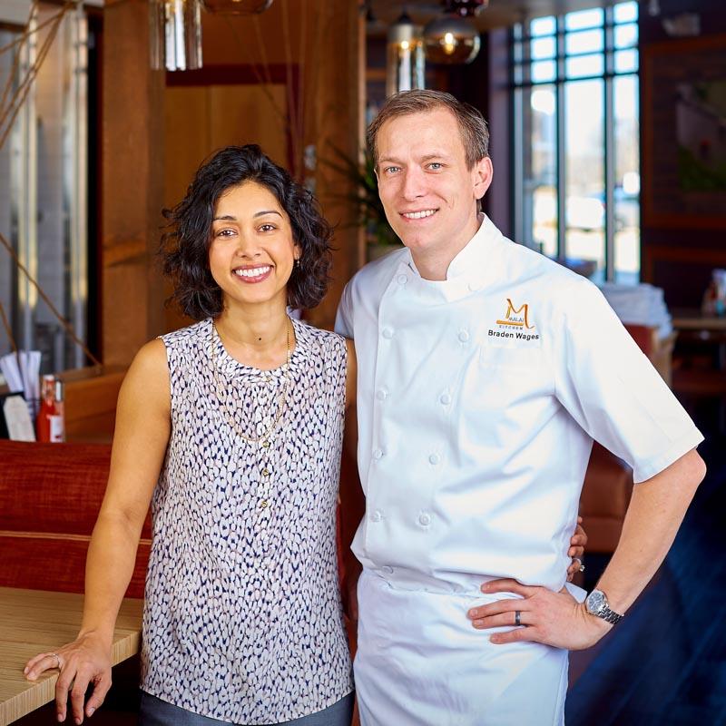 Restaurateur Yasmin Wages & Chef Braden Wages | Photo Credit: Kevin Marple