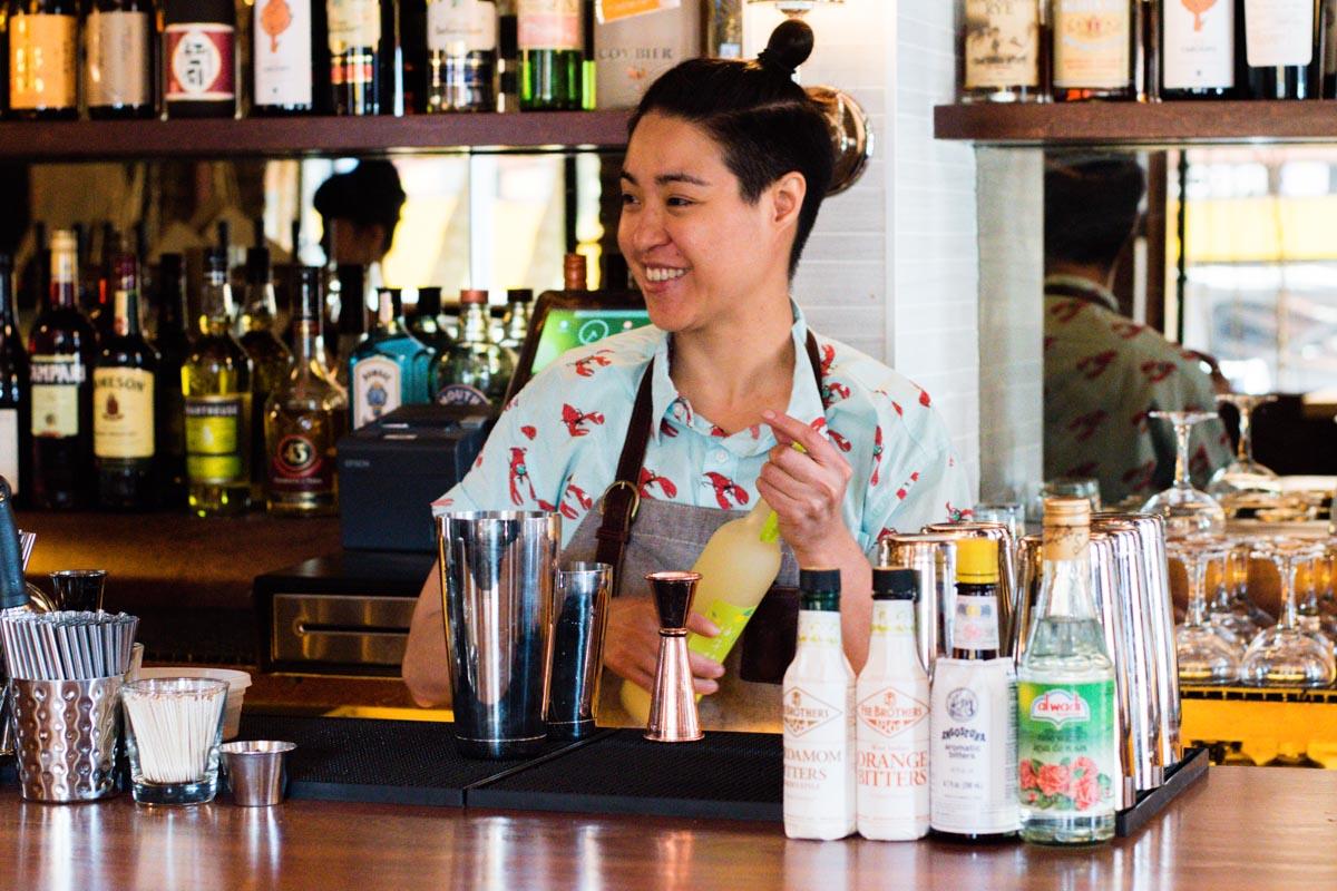 Bartender Natasha Torres at Bar Moga |Photo Credit Asia Coladner