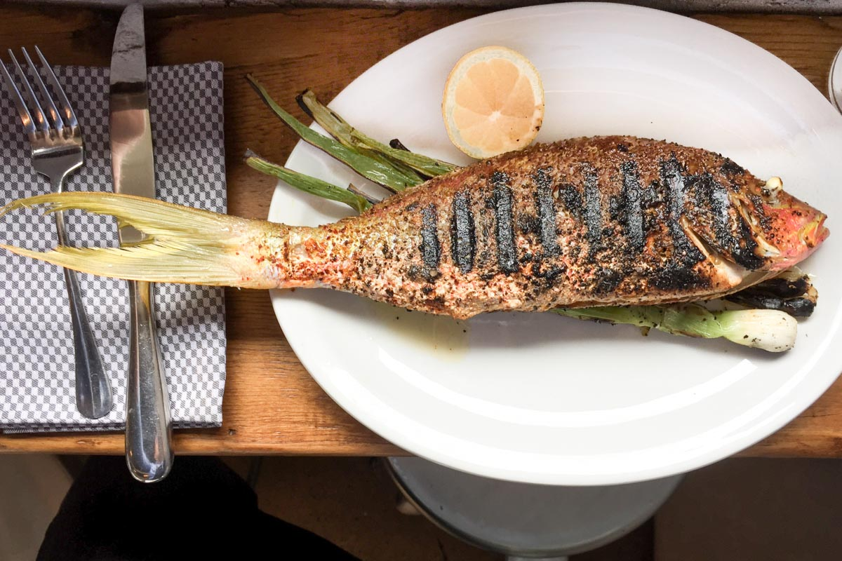 Whole Grilled Fish at Rider