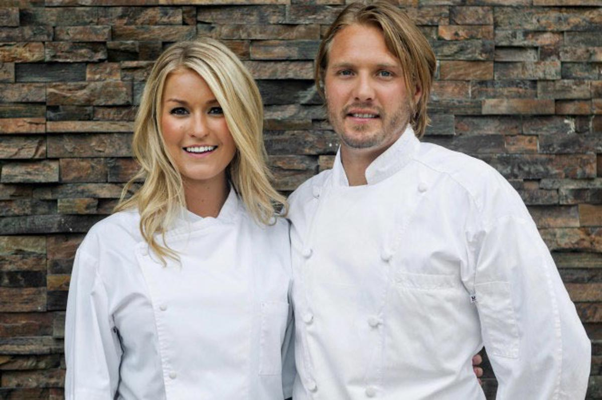 Chefs Janine Booth & Jeff McInnis | Photograph courtesy of Grove Bay Group