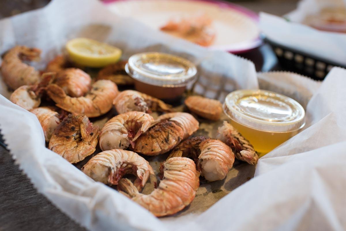 Steamed Rock Shrimp at JB's Fish Camp | Photo Credit: ©Find. Eat. Drink.
