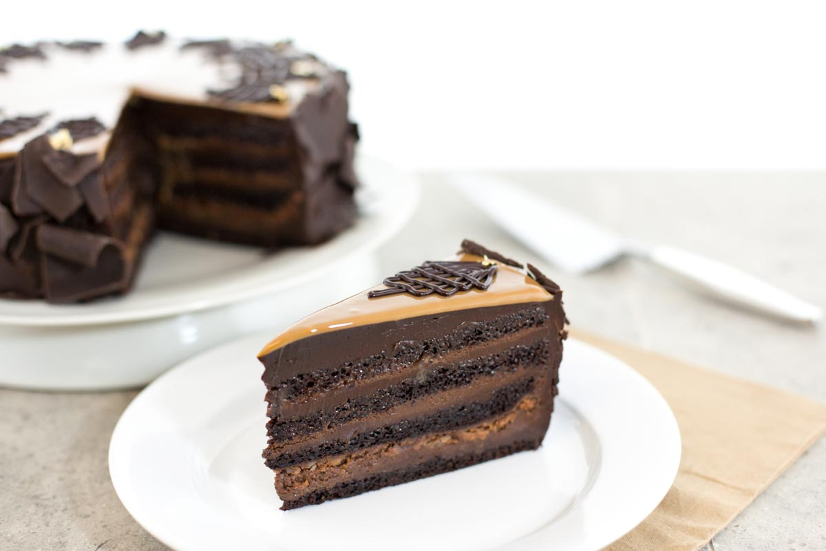 Chocolate Dulce de Leche cake | Photograph courtesy of Extraordinary Desserts