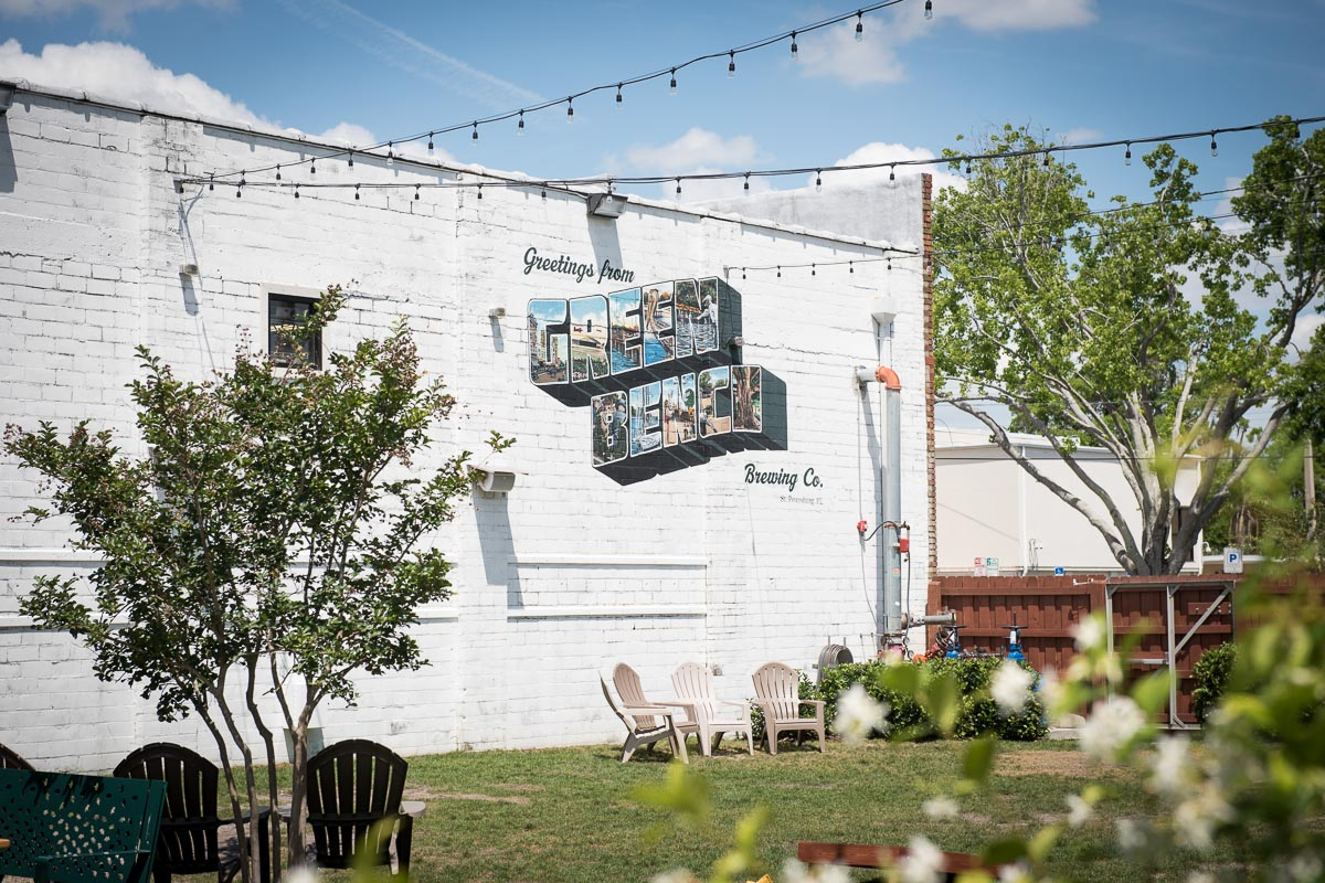 Enjoy a beer in the garden at Green Bench Brewing Co.  | Photo Credit: ©Find. Eat. Drink.
