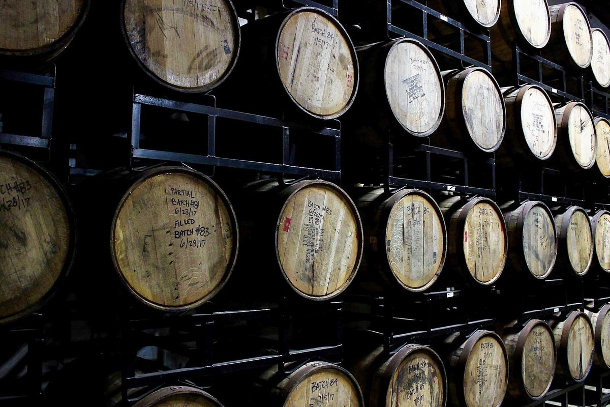 Beer Barrels at Cycle Brewing | Photograph courtesy of Cycle Brewing