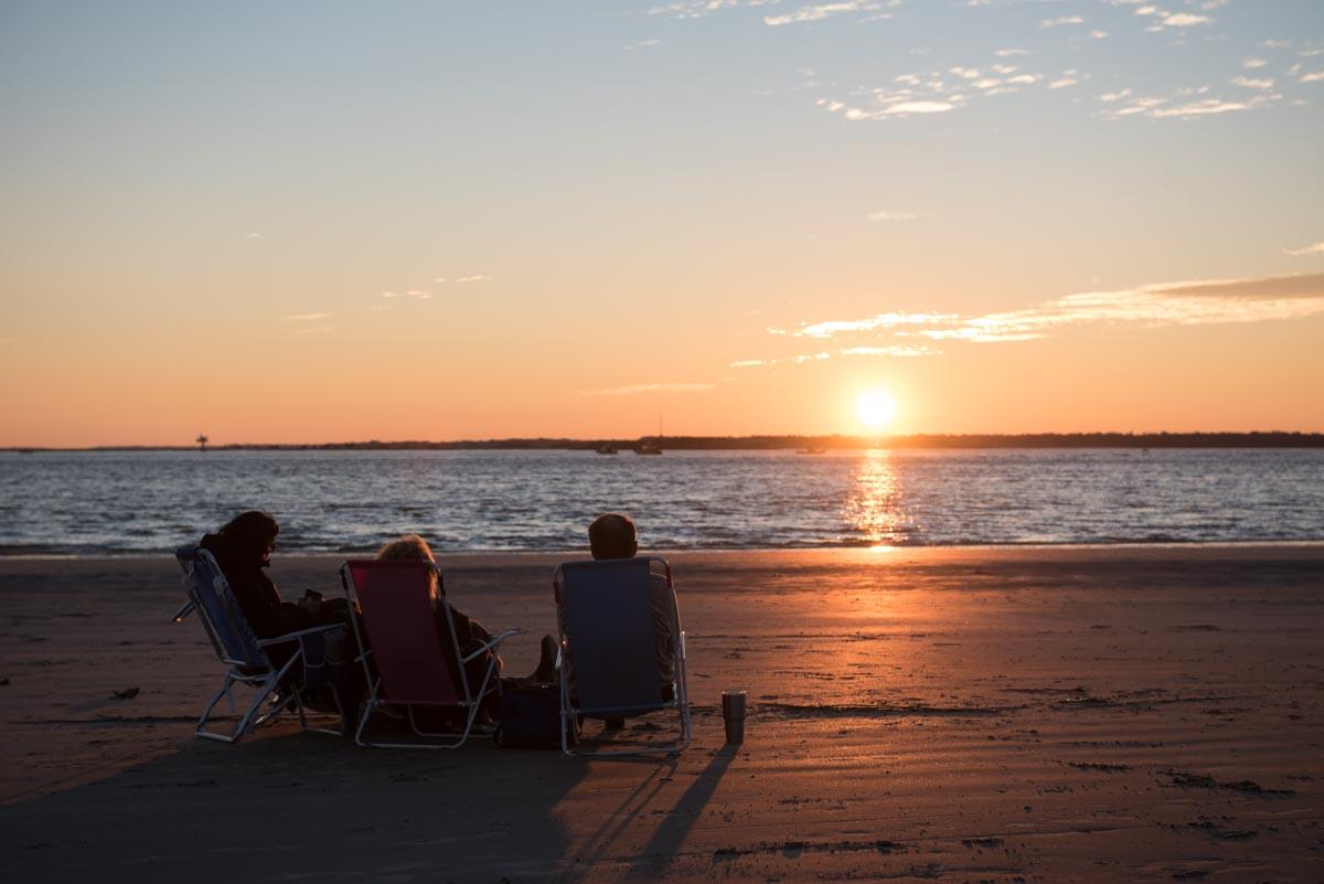 Sunset and wine on Sullivan's Island | Photo Credit: ©Find. Eat. Drink.