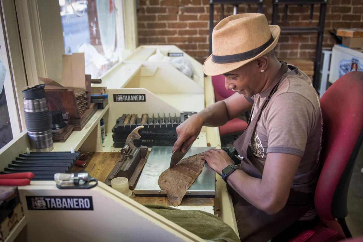 Hand-rolling cigars at Tabanero Cigars in Ybor City | Photo Credit: ©Find. Eat. Drink.