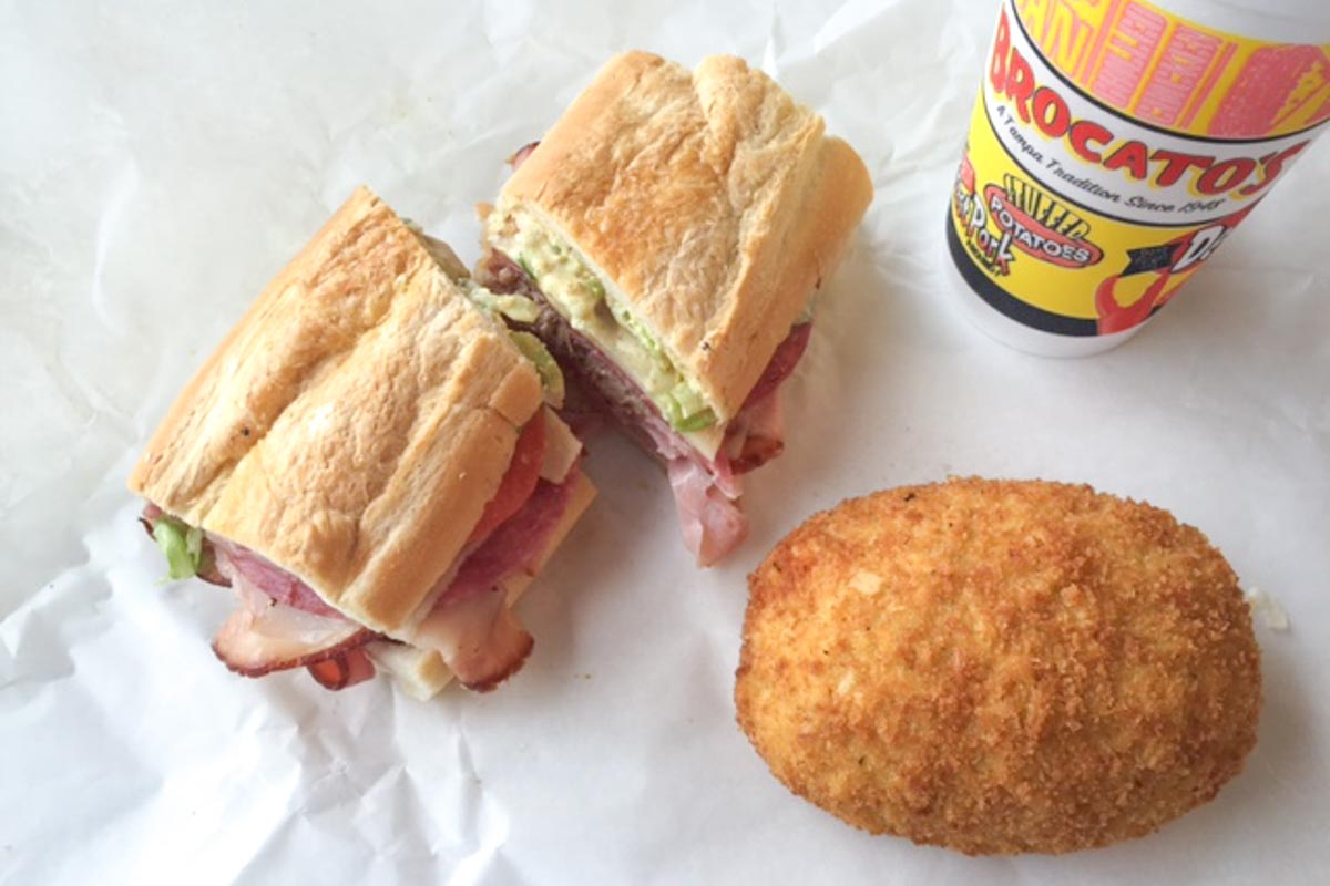 Devil Crab and Cuban Sandwich at Brocato's Sandwich Shop | Photo Credit: ©Jennifer and David Raezer of  Approach Guides