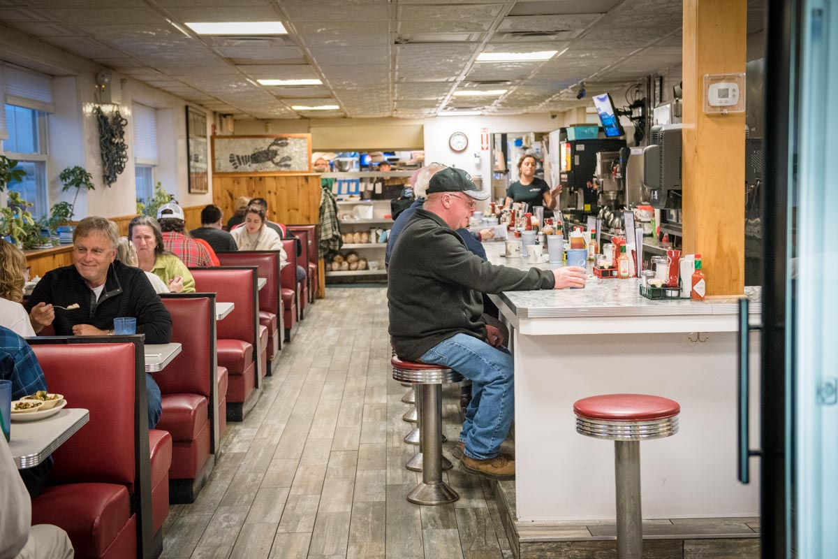 Fishermen, tourists, and locals come to Becky's Diner  | Photo Credit: ©Find. Eat. Drink.