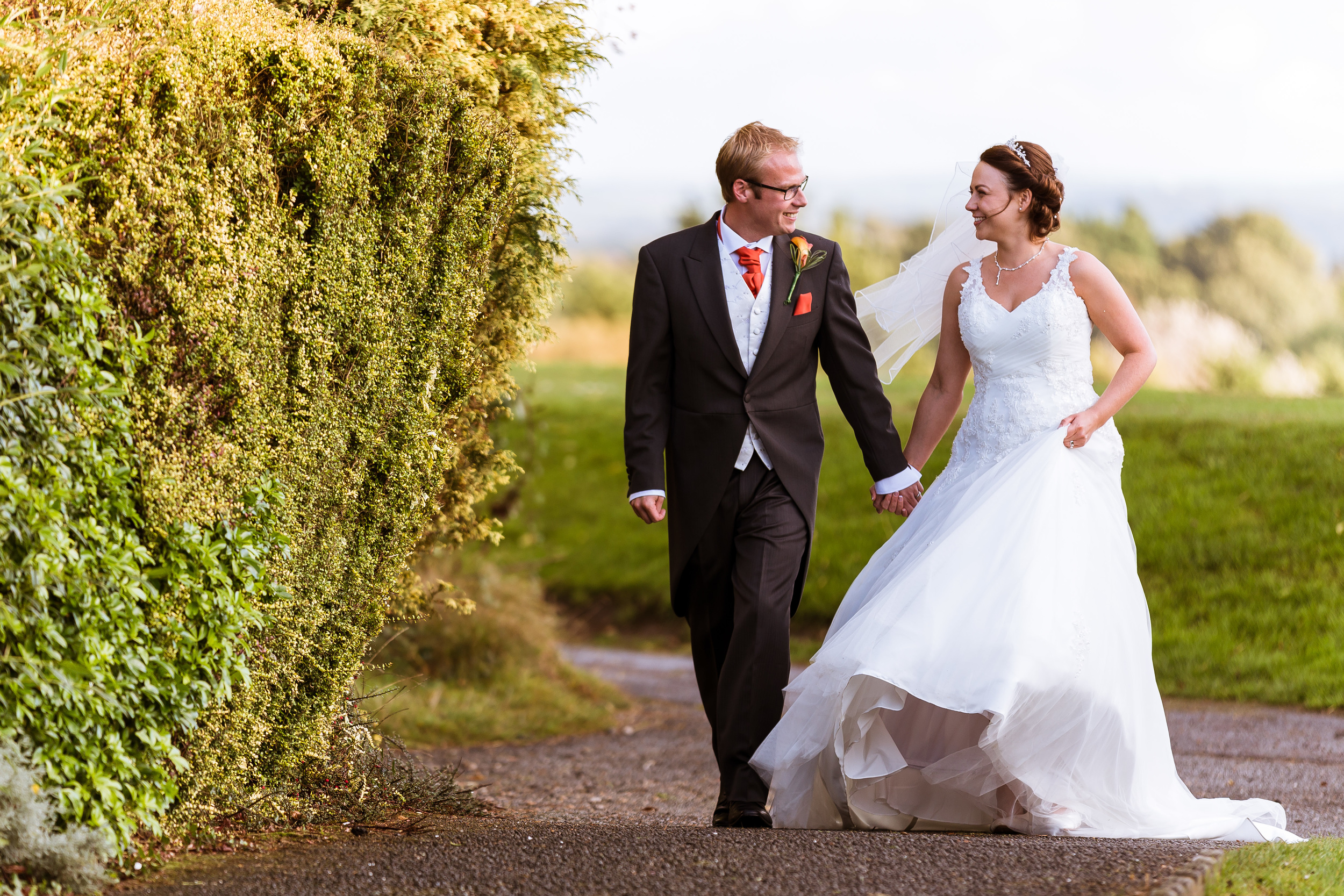 East Sussex - Wedding - Dale Hill – Couple Shoot - Sarah & Marc – Walking back