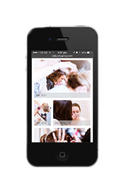Edward Solly's Wedding Gallery on an Iphone