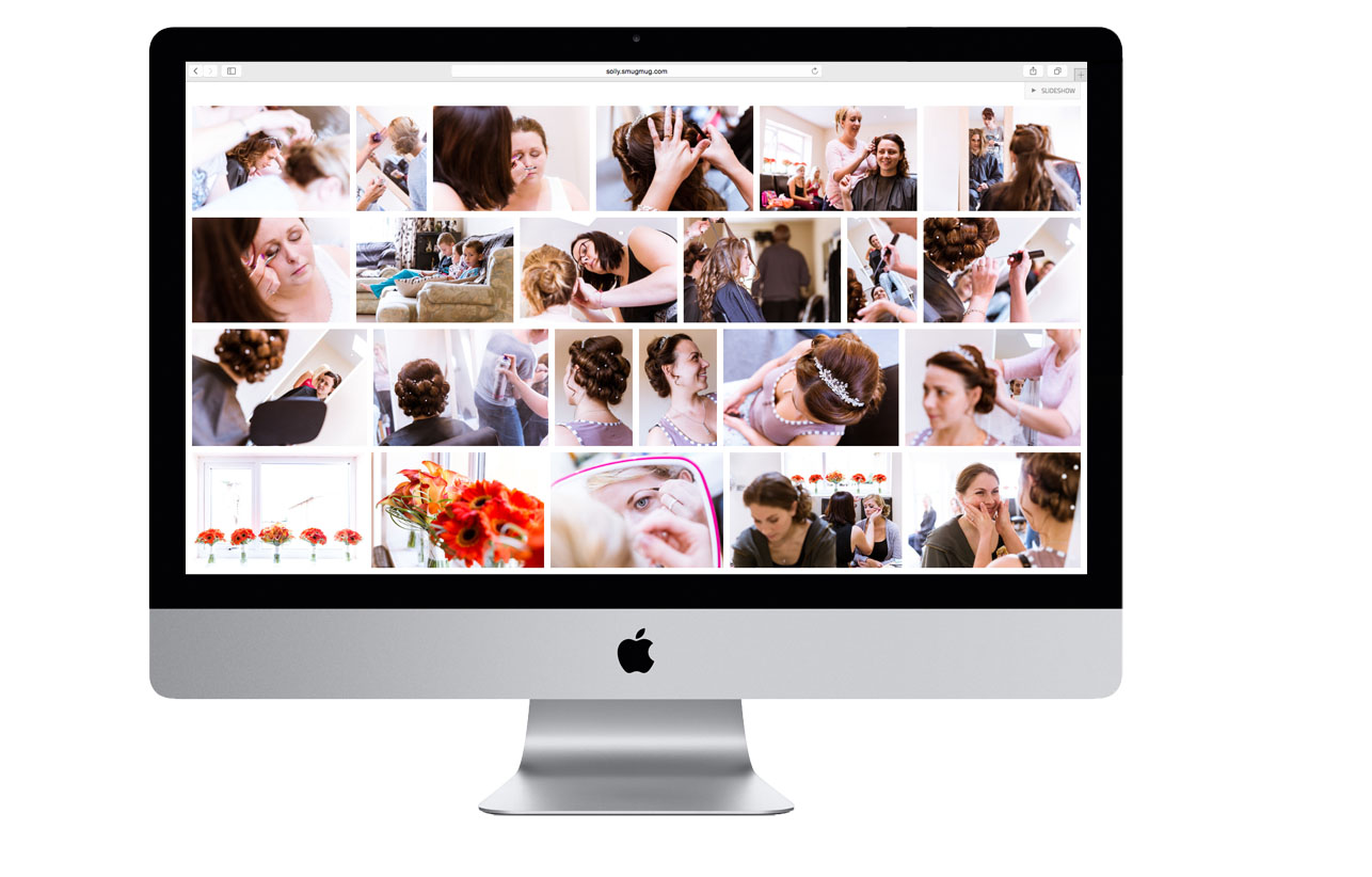 what my photographs look like on an imac after your wedding