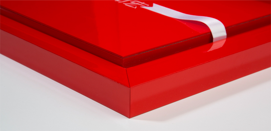A close up look of the side of a Red Young Book