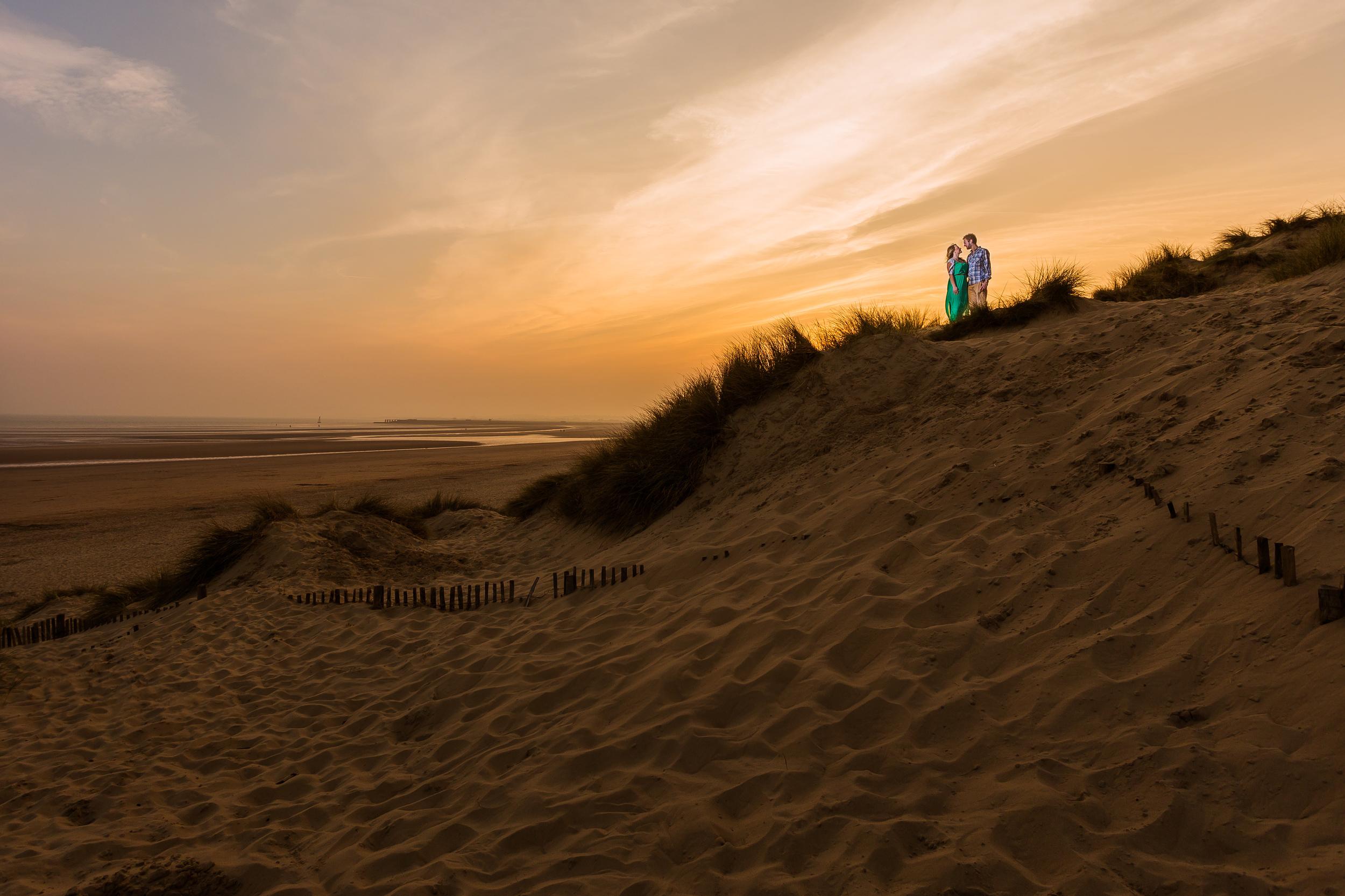 Kent - Engagement - Camber Sands - Beach Shoot - Epic Sunset Photo