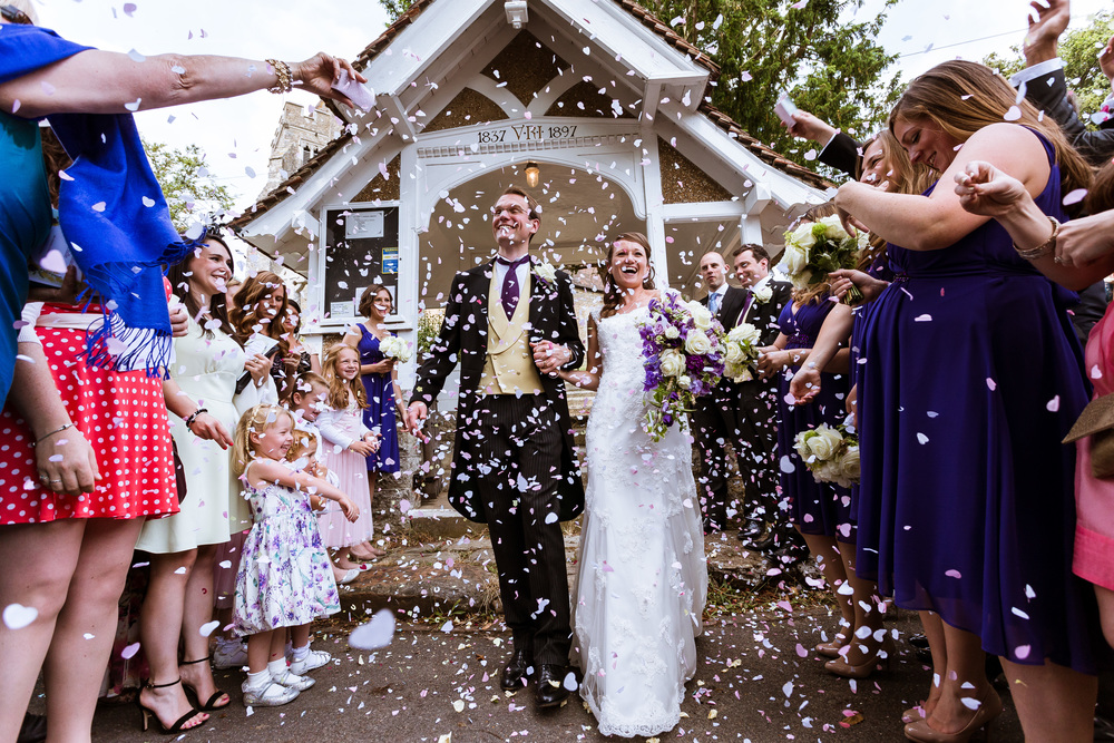 Kent - Wedding - Confetti - End of ceremony