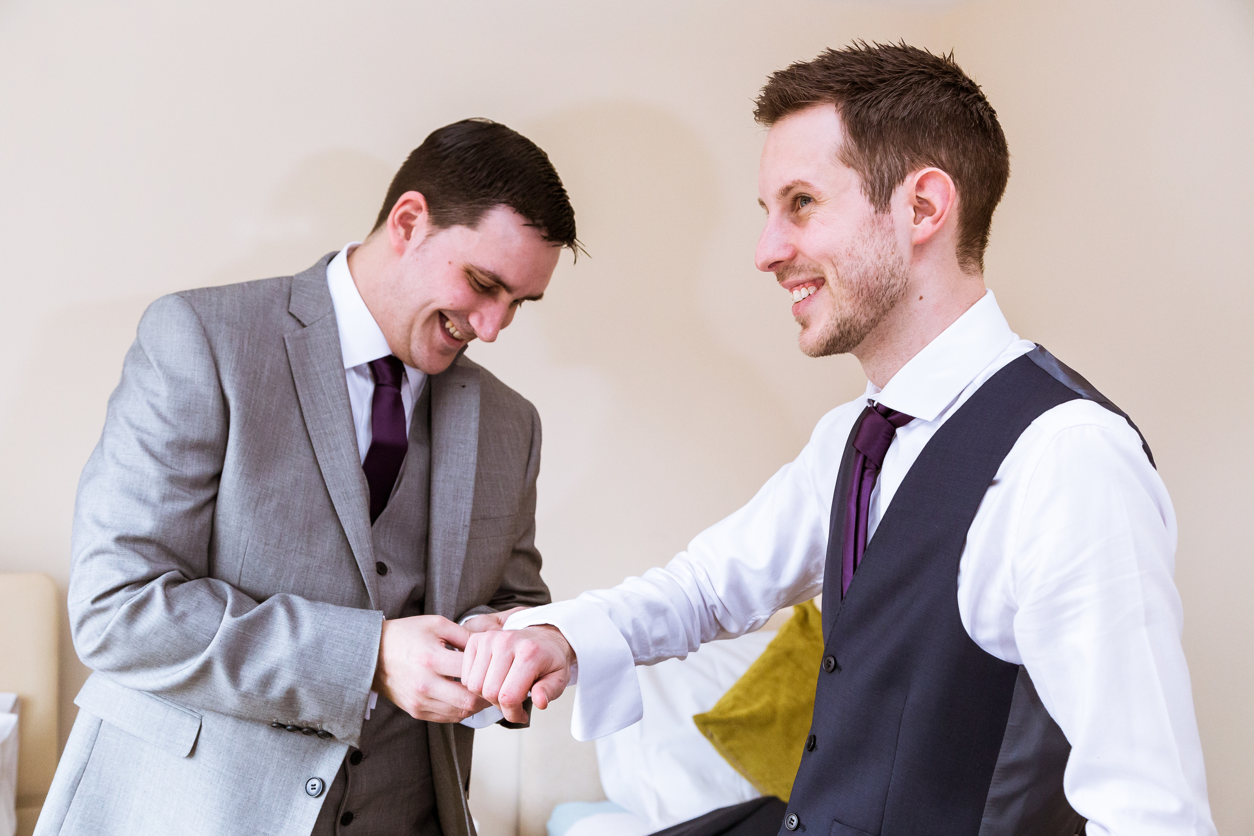 kent - wedding - woodchurch - Groom prep