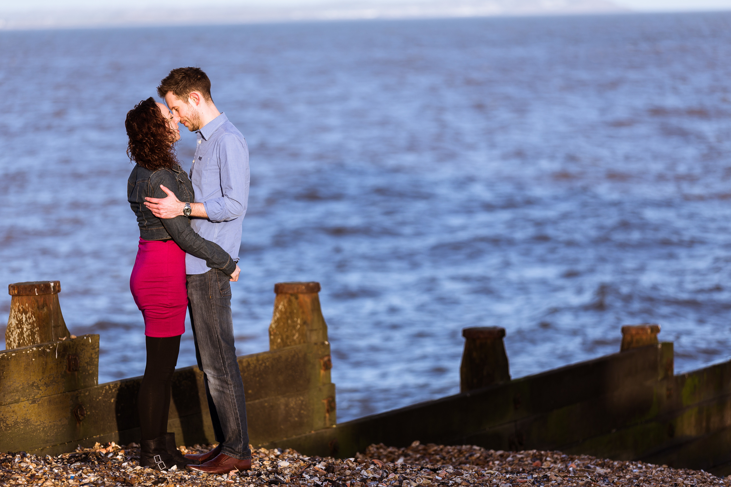 An image from a portrait session I have with an amazingly fun couple in Whitstable.