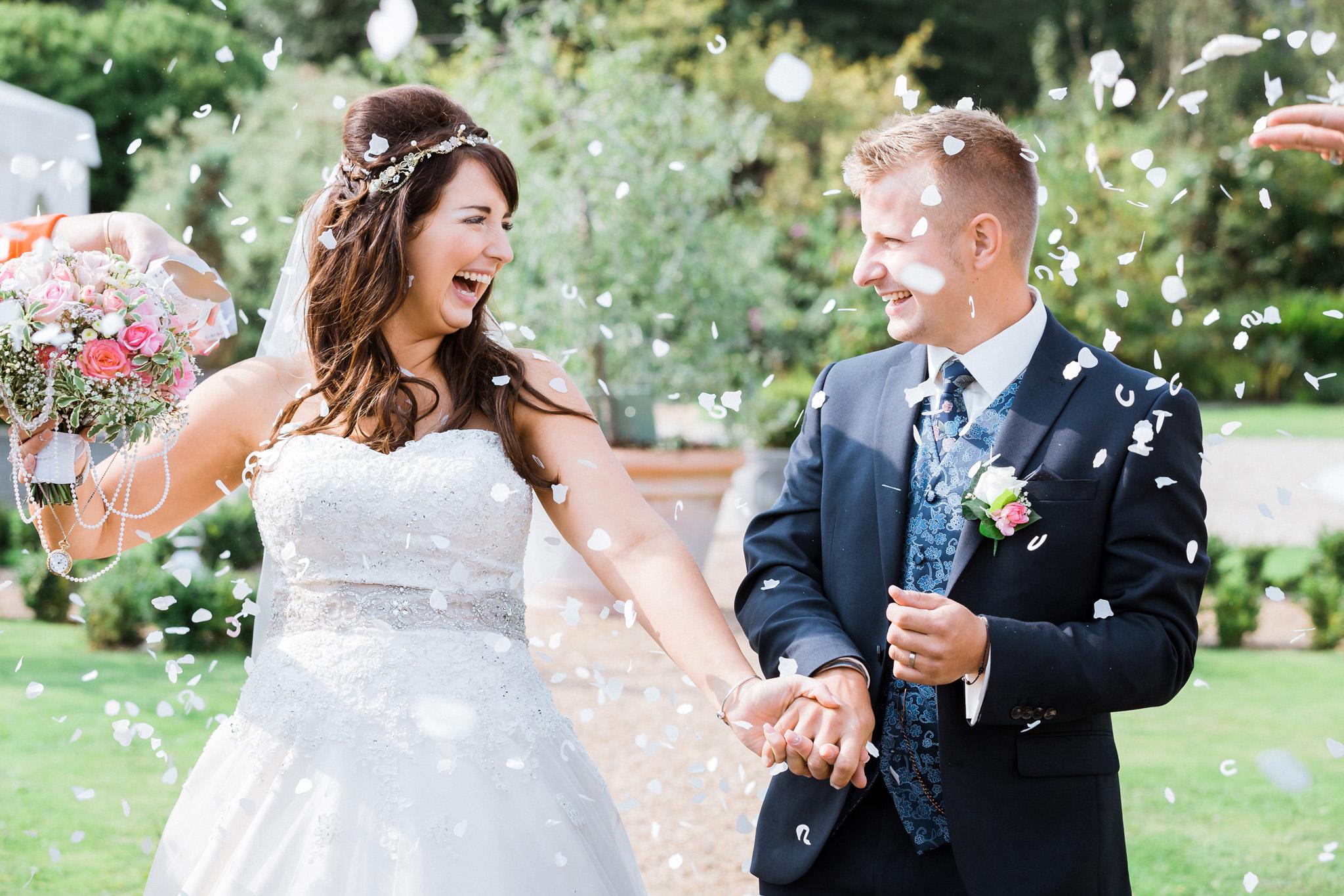 Kent - Wedding – The Secret Garden – Michelle & Sam – Confetti Throwing