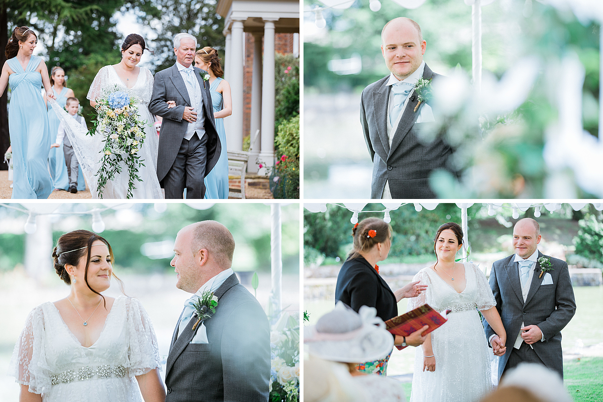 Wedding Ceremony photographs at Starborough Manor in Kent