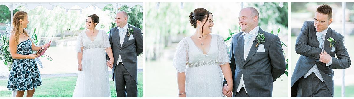 Kent Wedding at Scarborough Manor in the garden where it looks light and airy