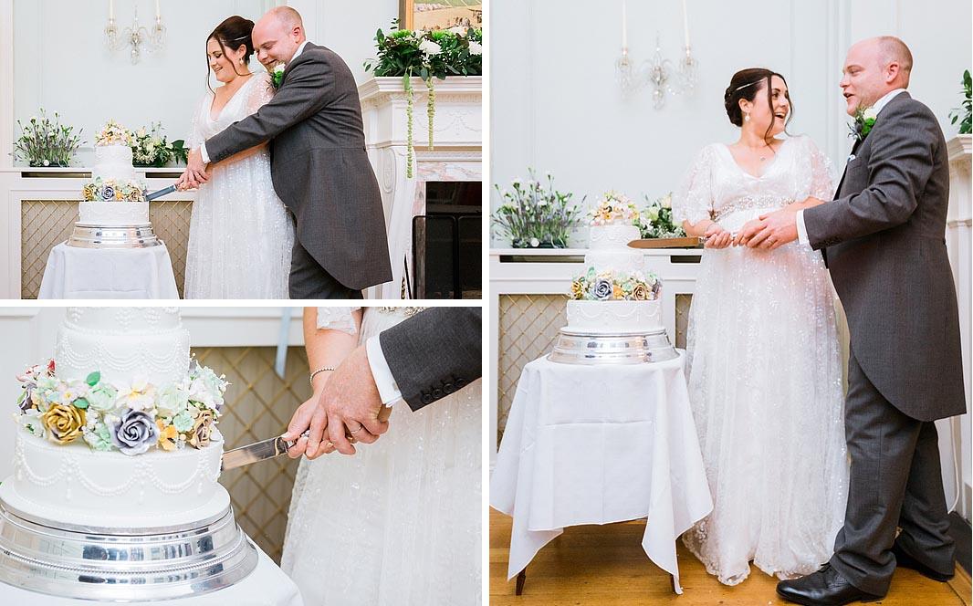 Cake Cutting at a Kent Wedding