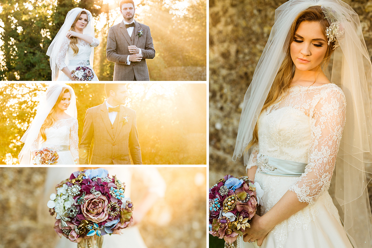Bride and Groom Photos at Lympne Castle