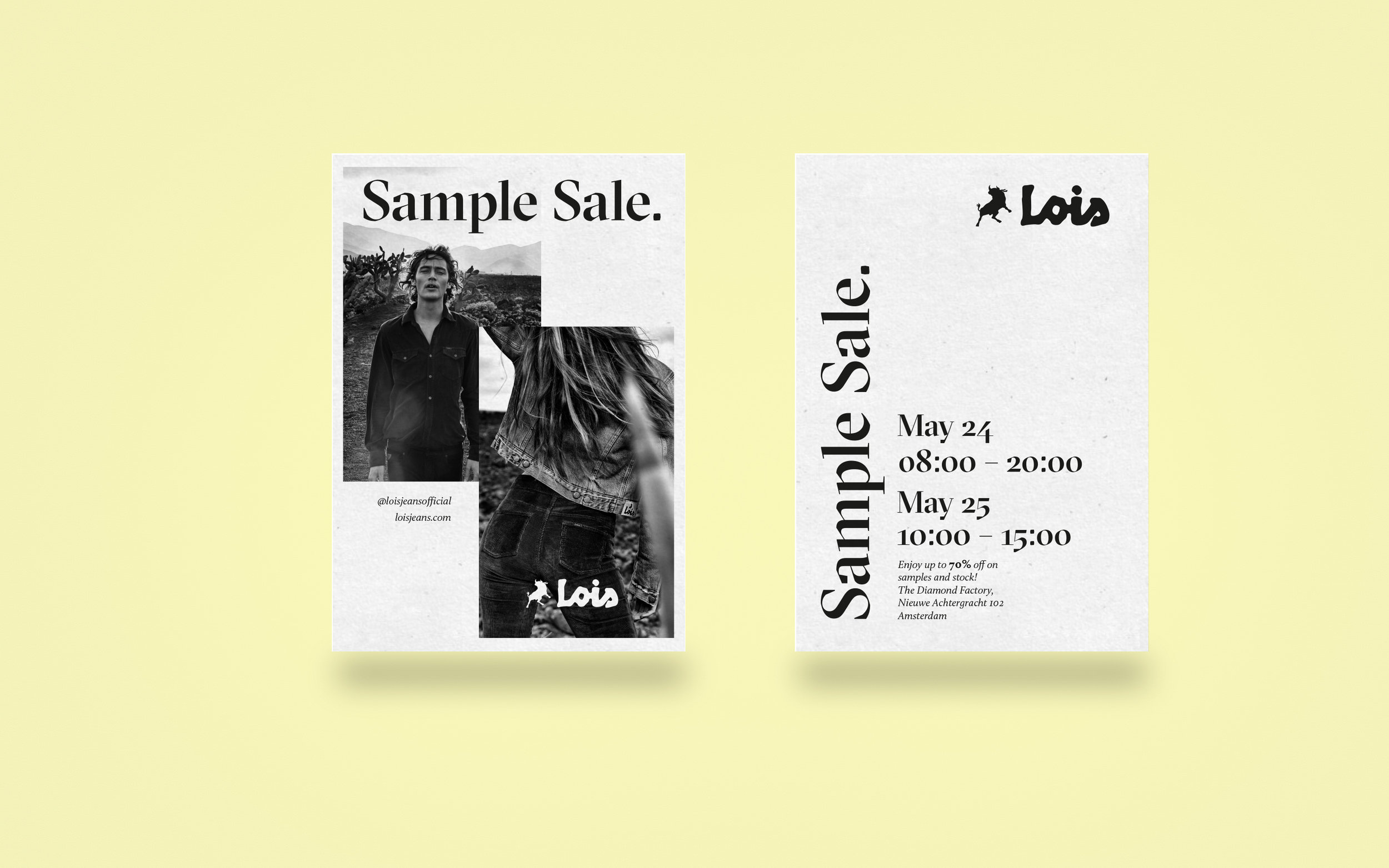 sample sale invite.