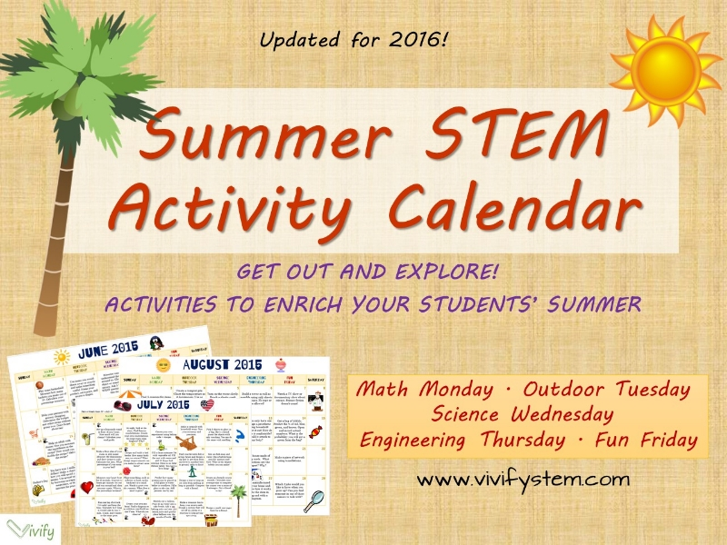 STEM activities all summer long! Click to see the STEM Summer Activity Calendar on TpT