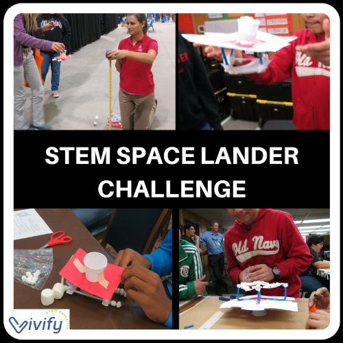 Our kids love the STEM Space Lander Challenge!