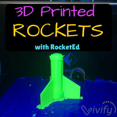 RocketEd provides 3D printing files and curricula for model rockets. Read more in Vivify's interview with the CEO.