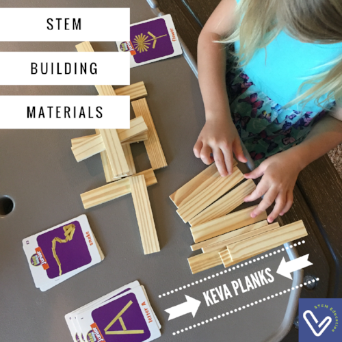 Use STEM building materials to foster stage 1 STEM skills.