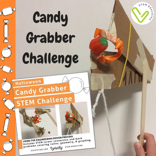 Challenge your students with the STEM Candy Grabber Challenge this Halloween!