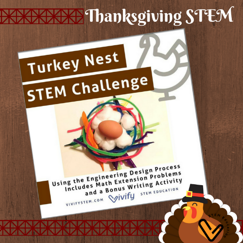 Thanksgiving Turkey Nest engineering design challenge is a twist on the classic egg drop challenge! Click to see it in our TpT store.