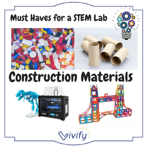 Every STEM lab should be stocked with construction materials. We have listed our favorites here!