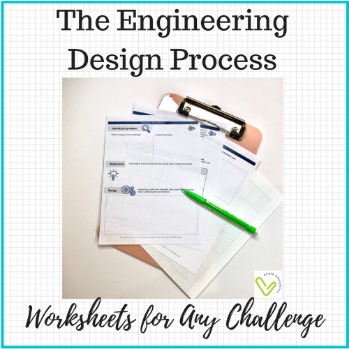 Click for FREE engineering design process worksheets to guide your students!