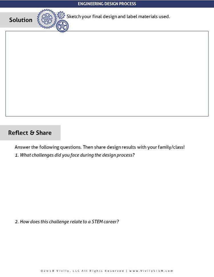 Engineering Design Process Worksheets Vivify Stem