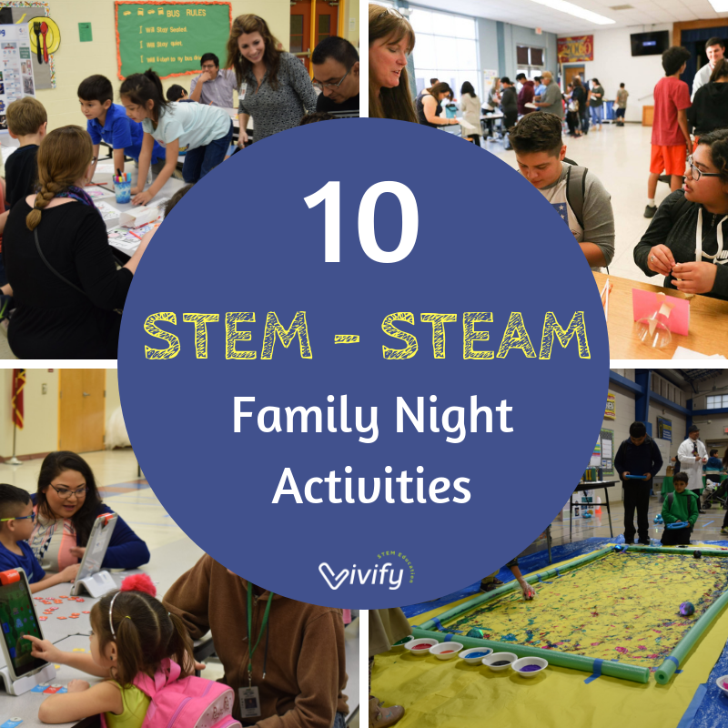Check out this pos t for 10 Amazing STEM Family Night Activities that include links to 6 free station activity guides!