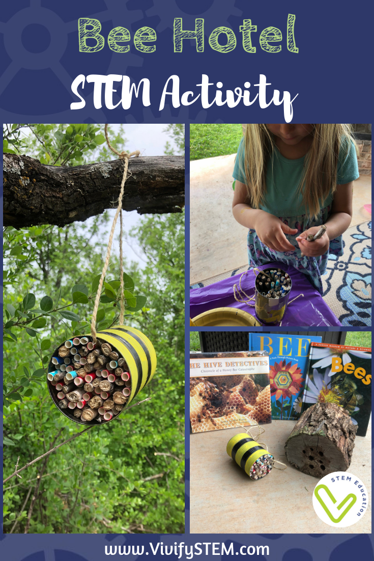 Learn about bees and how to provide a safe place for them to live with this STEM activity.