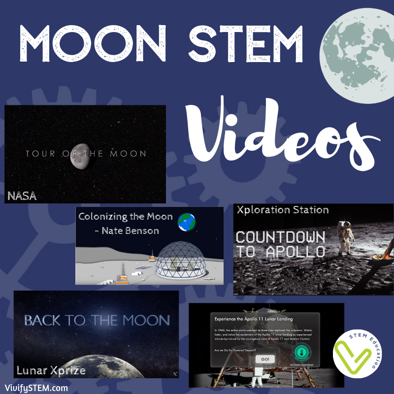 Videos about the moon and the Apollo Lunar landing.