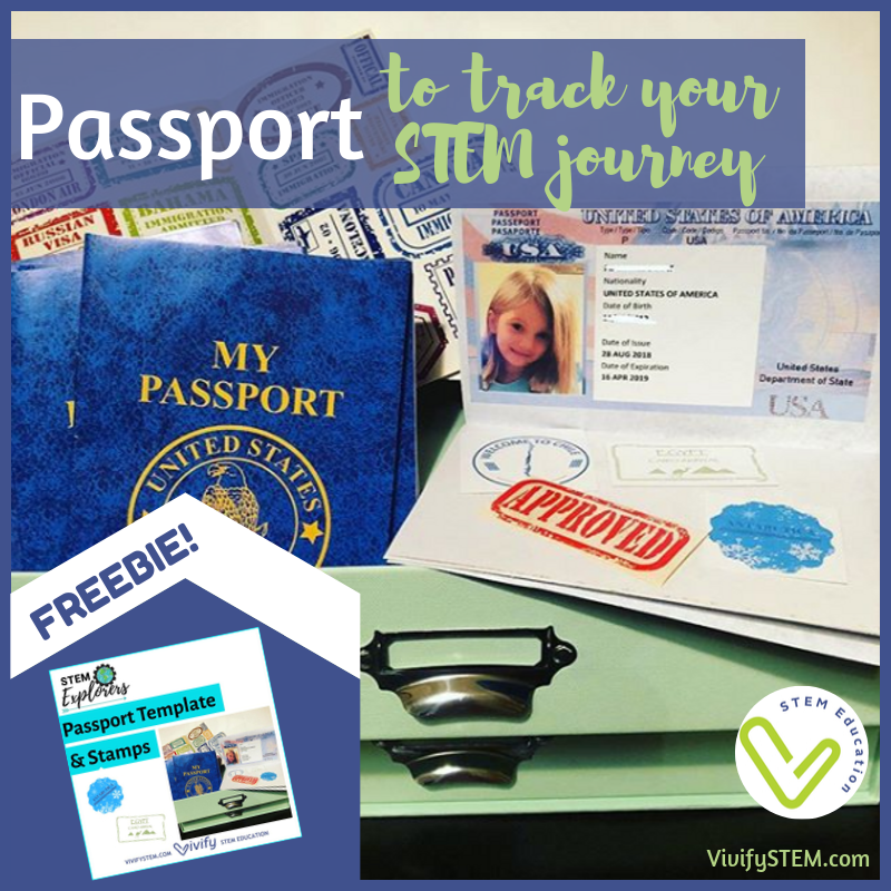 Free passport template to use with the STEM Explorers lessons.