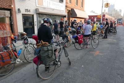 Gathering at 718 Cyclery