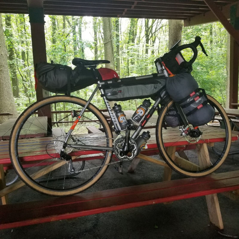 We gave a talk on Bike Camping and Touring.