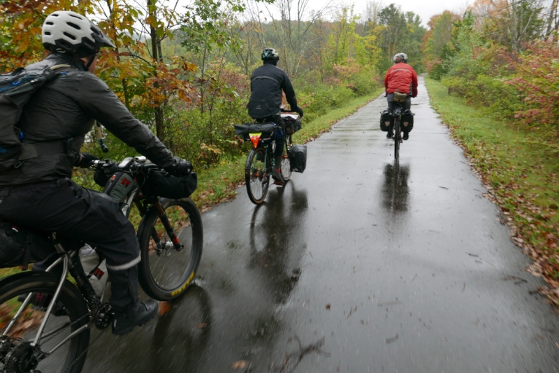 The group set off north on the Putnam Valley Rail Trail for 10 mines to Millerton, NY
