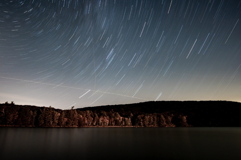 A chilly, windy, starry October night in the Berkshires. Image property of Daniel Arena