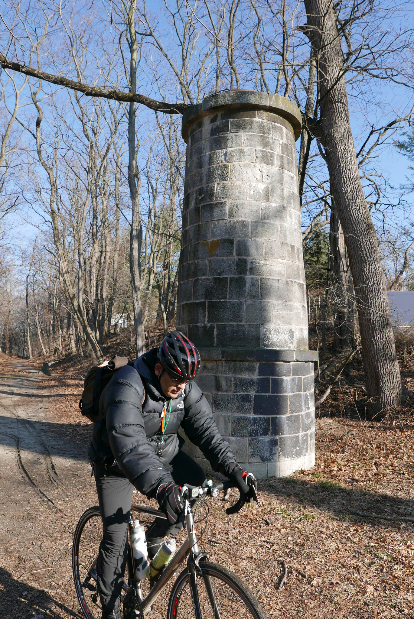 The OCA trail has these ventilation shafts every mile